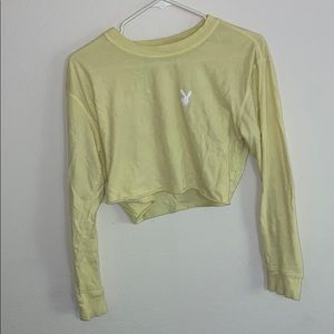 yellow playbunny long sleeve crop